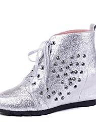 zapatos de las mujeres del dedo del pie redondo botines tacón de cuña más colores disponibles