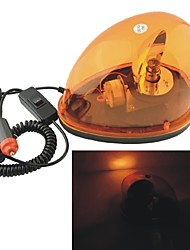 Carking™ 12V Car Vehicle Halogen Warning Light Flashing Strobe Light with Magnetic Base--Yellow