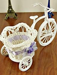 triciclos roda grande cesta de armazenamento de tecido à mão (entrega aleatória)