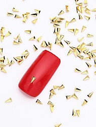 500PCS 3D Gold Nail Art Jewelry Alloy Slice Golden Stud Shining Plane Rivet for Nail Design and Fake Nails