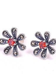 925 zilveren sieraden zon bloem oorbellen