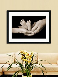 Framed Art Print, People Sepia Parents Love by Tanya Hovey