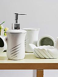 baño de juego de accesorios, productos contemporáneos de baño de cerámica Conjunto 5 piezas
