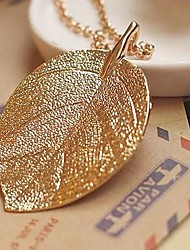 Women's High-End Vintage Gold Leaf Necklace
