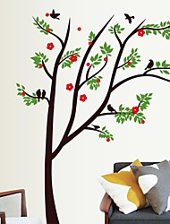 Wall Stickers Wall Decals, Vibrant Natural Trees PVC Wall Stickers