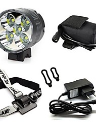 8.4V 7000 Lumen CREE XM-L 5x T6 LED Headlight and Bicycle Light Include EU Plug Charger and Battery Pack