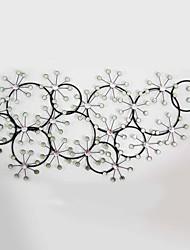 E-HOME® Metal Wall Art Wall Decor, Circular Snow Wall Decor