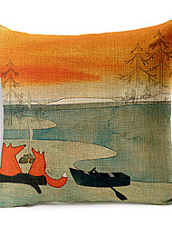 в стиле кантри лиса рисунок хлопок / лен декоративная подушка крышка