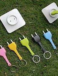 Creative Electric Socket Plug Unplug Anti Lost Key Chain