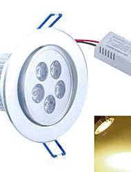 SENCART 5 W 5PCS COB 500-550 LM Warm White Recessed Retrofit Decorative Ceiling Lights AC 85-265 V