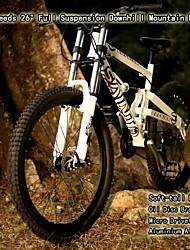 """24 скоростей 26 """"полное приостановление BFF ™ гору микро трансмиссия алюминиевого сплава мягкая хвост рамка горные велосипеды"""