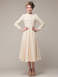 TS Women's Vintage Print Lapel Colar Bodycon Mini Dress