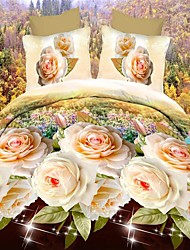 BETTERHOME  Duvet Cover/Duvet Cover Set 3D Activity Fashion Floral Print 4Pcs