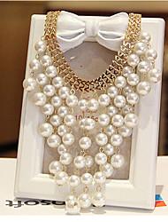 jiandie Damenmode Temperament elegant europäischen Stil Aussage Quaste Perlenketten
