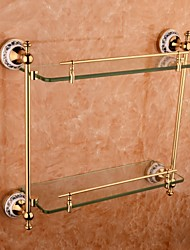 Bathroom Shelves, Contemporary Ti-PVD(TI-PVD) Zinc Alloy Wall  Mounted