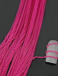 10Meters Rose Red Color Metal Line Chain 3D Alloy Nail Art Decoration