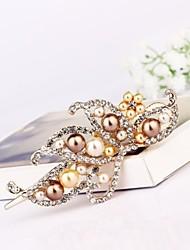 1pc característica imperial pinza de pelo elegante de perlas de imitación