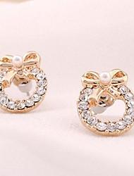 Kinder/Damen Ohrring Legierung Perle/Strass Stud Earrings