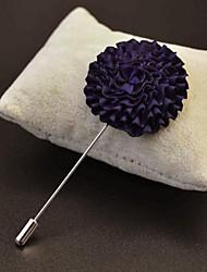 main polyester fuchsia fleurs de revers boutonnière pour hommes