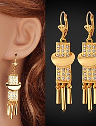 InStyle Cute Drop Dangle Earrings 18K Gold Plated Rhinestone Crystal Jewelry Gift for Women High Quality