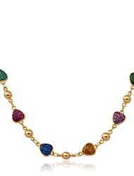 Necklace Choker Necklaces / Chain Necklaces / Collar Necklaces Jewelry Wedding / Party / Daily / Casual Fashion Gold Plated / Enamel Gold