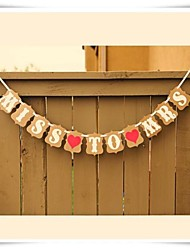 Vintage Retro Kraft Paper Handmade MISS TO MRS Bridal Shower Hen Party Banner
