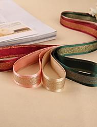 2MGorgeous Sandwhich Gold Stripe Grosgrain Ribbon