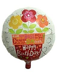 drei kleine Blume metallic Ballons