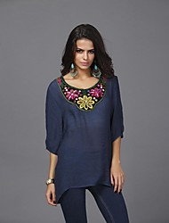Women's Bead Embroidery Plus Size Shirts