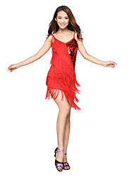 Latin Dance Dancewear Women's Sexy Silk&Tassels Sequins Latin Dance Dresses(More Colors)
