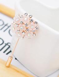 Ladies'/Women Alloy Brooch Pink Gold