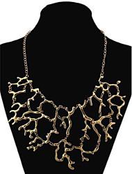 colar de liga de coral do vintage das mulheres
