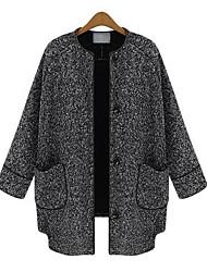 em torno do pescoço das mulheres weimeijia® tudo combinando casaco de tweed