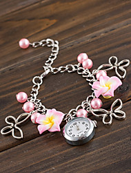 Wanbao Women's Elegant Flower Bracelet Watch