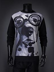 uz hond patroon t-shirt