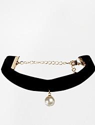 Европейские и американские торговля простой жемчужное ожерелье женщин