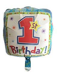 Praça balão azul metálico 1 aniversário para o menino