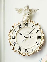 tema do anjo polyresin em relevo relógio de parede