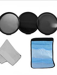 67MM  Neutral Density Professional Photography Filter Set (ND2 ND4 ND8) +Cleaning Cloth