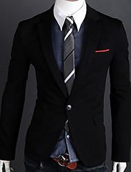 moda um botão blazer de manga comprida masculina gotobi