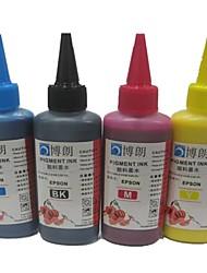 encre pigmentée Bloom approprié pour Epson CISS recharge de cartouche d'encre 100ml bk / c / m / y (4 couleurs 1 lot)