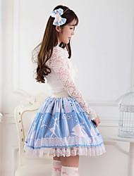 azul bastante cisne lolita lago princesa falda kawaii encantador cosplay
