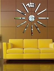 """22 """"h soleil de style moderne 3d miroir acrylique bricolage horloge murale"""