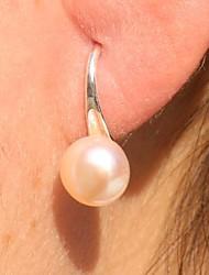 Hoop Earrings Women's Pearl Earring