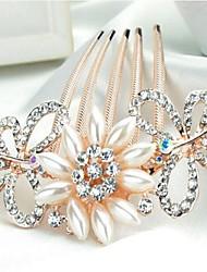 lussureggianti fiori farfalla scintillanti con grandi perle e strass pettini