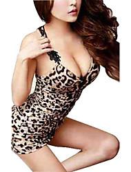 женская леопарда ведущий танцор полюс танцы вечернее платье сексуальное женское белье