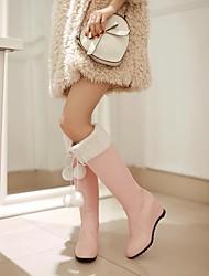 zapatos de las mujeres altas botas con punta de cuña rodilla talón ronda más colores disponibles