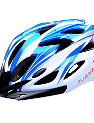 FJQXZ 18 Vents EPS+PC Blue and White Integrally-molded Cycling Helmet(56-63CM)