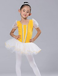 Kids' Dancewear Tops Dresses&Skirts Tutus Children's Chiffon Spandex Short Sleeve
