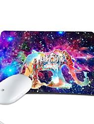 elonbo brilhante boêmio estrelas e do Castelo de elefantes de couro pu anti-derrapante pad mouse de computador mousepad